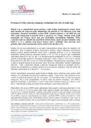 Informace ze SNÍDANĚ S NOVINÁŘI 22. ledna 2013