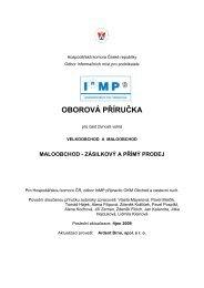 OBOROVÁ PŘÍRUČKA - Svaz obchodu a cestovního ruchu ČR