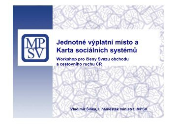 Workshop pro členy Svazu obchodu a cestovního ruchu ČR
