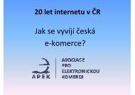 APEK - elektronický obchod - vývoj
