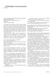 Elôadás-kivonatok - Magyar Radiológusok Társasága