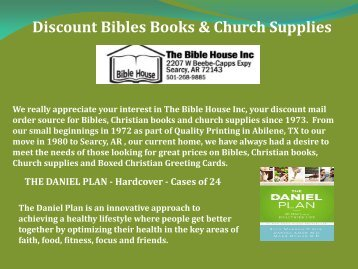 Discount Bibles Books & Church Supplies