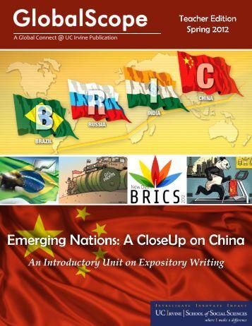 Emerging Nations - School of Social Sciences - University of ...