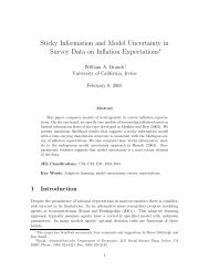 Sticky Information and Model Uncertainty in Survey Data on Inflation ...