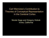Carl Wernicke's Contribution to Theories of Conceptual ...