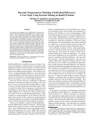 Bayesian Nonparametric Modeling of Individual Differences: A Case ...