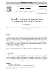 Turnpike trusts and the transportation revolution in 18th century ...