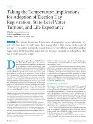 Taking the Temperature: Implications for Adoption of Election Day ...