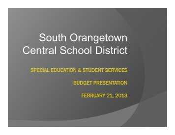 view - South Orangetown Central School District