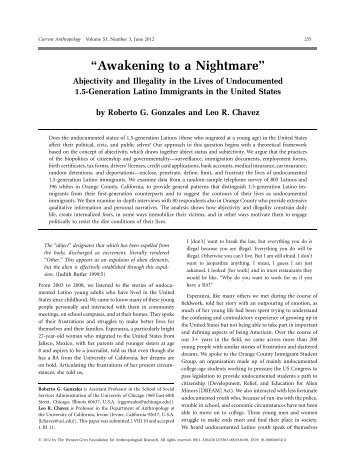 Awakening to a Nightmare - School of Social Sciences - University ...