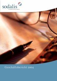 Geschäftsbericht 2004 - Sodalis Krankenversicherer