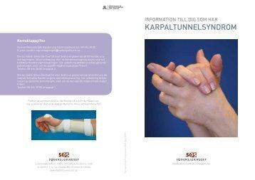Information till dig som har karpaltunnelsyndrom - Södersjukhuset