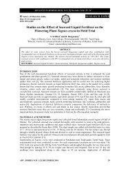 Studies on the Effect of Seaweed Liquid Fertilizer on ... - Soeagra.com