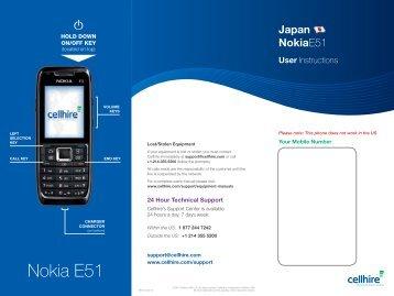 Nokia E51 - Cellhire