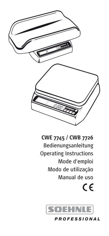 CWE 7745 / CWB 7726 - Soehnle Professional