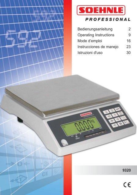 9320 Bedienungsanleitung 2 Operating Instructions 9 Mode d ...