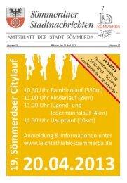 Amtsblatt Nr. 07 vom 03.04.2013 - Sömmerda