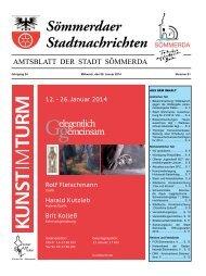 Amtsblatt Nr. 01 vom 08.01.2014 - Sömmerda