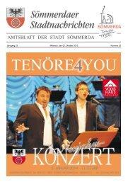 Amtsblatt Nr. 20 vom 02.10.2013 - Sömmerda