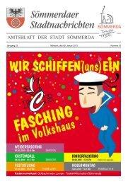 Amtsblatt Nr. 01 vom 09.01.2013 - Sömmerda