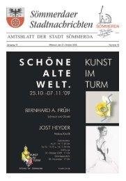 Amtsblatt Nr. 42 vom 21.10.2009 - Sömmerda