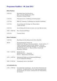Programm Stadtfest – 08. Juni 2013 - Sömmerda
