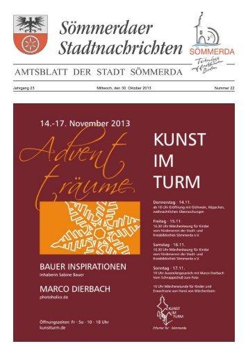 Amtsblatt Nr. 22 vom 30.10.2013 - Sömmerda