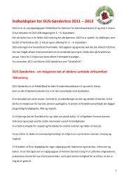 DUS-indholdsplan 2011 - 2012_v1 - Sønderbroskolen