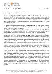 Elternbrief Nr. 1 2013/14 - Sönke-Nissen-Schule