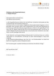 Einladung zu den Zeugniskonferenzen 2. Halbjahr 2012/13 Sehr ...