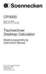 CP3000 Tischrechner Desktop Calculator - Soennecken
