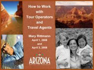 How to Work with Tour Operators and Travel Agents - Arizona Office ...