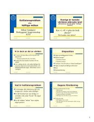 Krockproblem 2008.pdf - KTH Particle and Astroparticle Physics