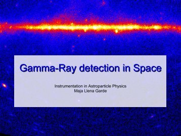 Gamma-Ray detection in Space - KTH Particle and Astroparticle ...