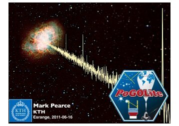 Mark Pearce - KTH Particle and Astroparticle Physics