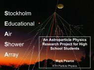 AlbaNova Instrumentation Seminar - KTH Particle and Astroparticle ...