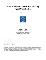 Feature Extraction for Low-Frequency Signal Classification