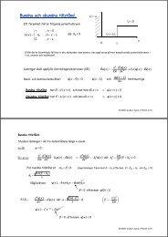Föreläsning 8