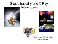 Space based and X-Ray  telescopes - KTH Particle and ...