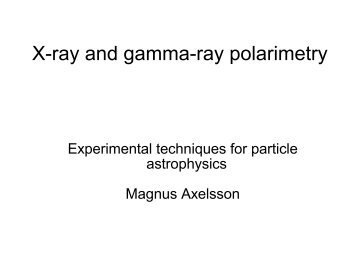 X-ray and gamma-ray polarimetry - Particle and Astroparticle Physics