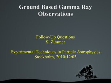 Ground Based Gamma Ray Observations