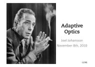 Adaptive Optics - KTH Particle and Astroparticle Physics