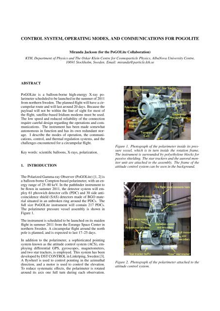 control system, operating modes, and communications for pogolite
