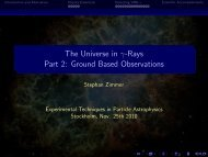 The Universe in -Rays Part 2: Ground Based Observations