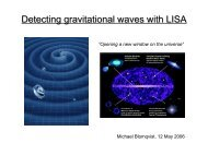 Detecting gravitational waves with LISA
