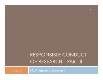 Slides from October 29, 2012 - Physics & Astronomy