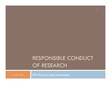 Slides from Ocober 22, 2012 - Physics & Astronomy