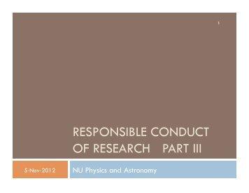 Slides from November 5, 2012 - Physics & Astronomy