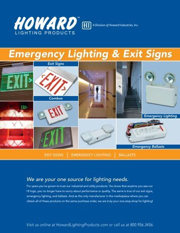 Emergency Lighting & Exit Signs - Pipestone Electric Supply