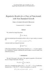 Regularity Results for a Class of Functionals - Trends in the ...